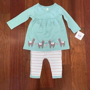 NWT Tea Collection 6-12M Alpaca Outfit